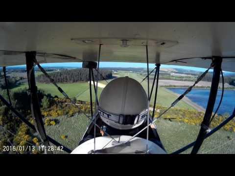 Daughters 1st Pietenpol flight - watch the planes shadow