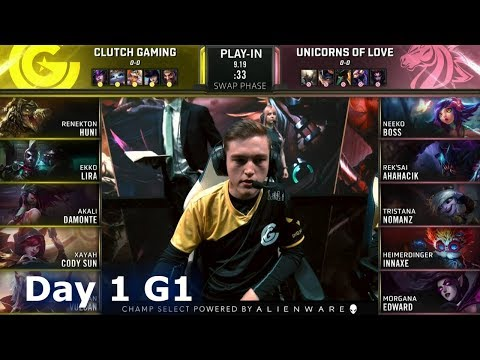 CG Vs UOL | Day 1 Play-In Stage S9 LoL Worlds 2019 | Clutch Gaming Vs Unicorns Of Love