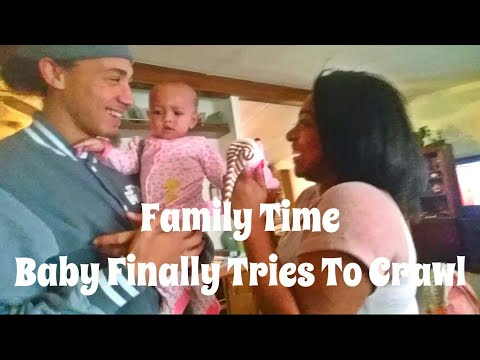 Vlog  Baby Finally Tries To Crawl   Terrifying Toy  She growled for the 1st Time
