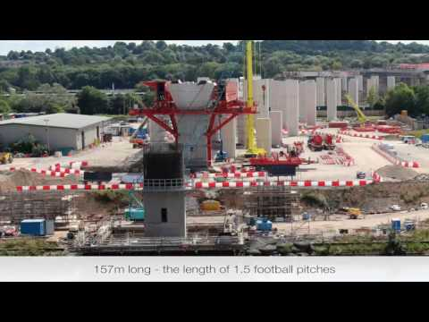 Mersey Gateway - building the MSS Webster - time-lapse