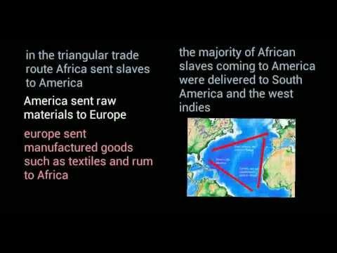 Colonial Period- Triangular Trade