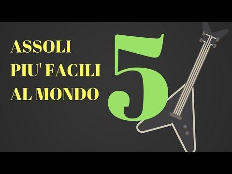 5 DEGLI ASSOLI DI CHITARRA PIU' FACILI AL MONDO | Classifiche Chitarra