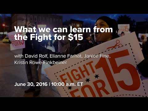 What we can learn from the Fight for $15
