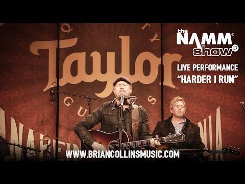 "Brian Collins ""Harder I Run"" Live at NAMM 2017 - Taylor Guitars"