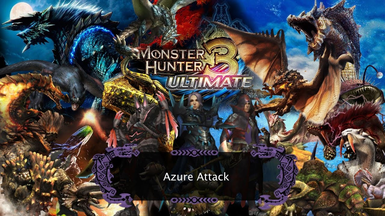 monster hunter 3 ultimate azure attack hunting azure