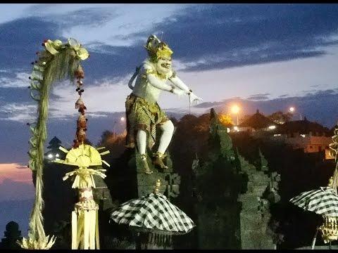 Sacred white monkey Attraction in Kecak Dance at Uluwatu, Bali Indonesia