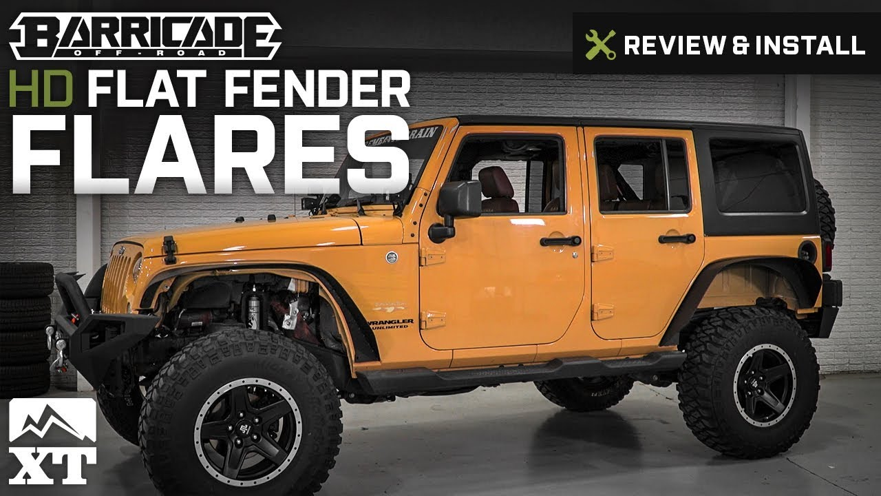 Jeep Wrangler Barricade Hd Flat Fender Flares 2007 2017