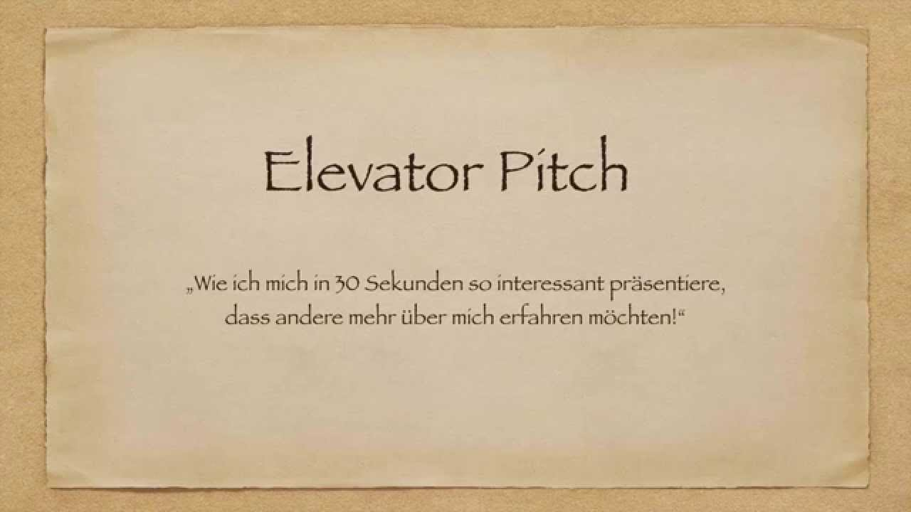 Network Marketing deutsch - Elevator Pitch - Beispiele aus der ...
