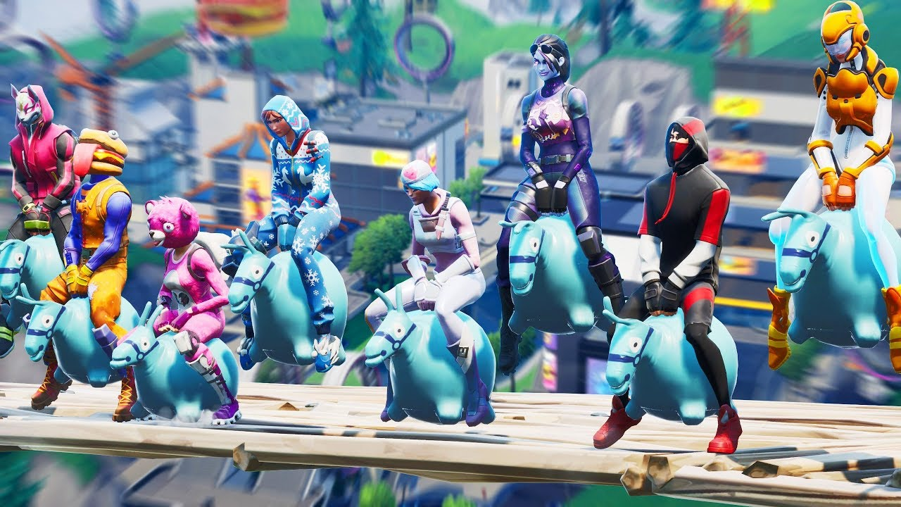 We Did The Bouncer All Game In Fortnite Youtube