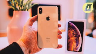 iPhone XS Max in Gold ausgepackt (Unboxing) - Deutsch