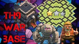 Th9 War Base 2016 Anti 3 Star/Anti 2 Star Anti Everything(Anti gowipe,Anti Hog)