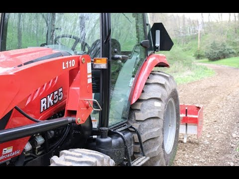 #155 RK 55 Tractor, 7' Box Blade + A Very Rough Driveway