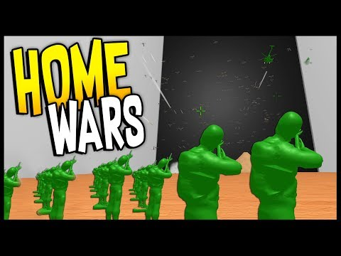 Home Wars - GREEN ARMY MEN vs 1000 BUGS! - Army Men Battle Sim - Let's Play Home Wars Gameplay