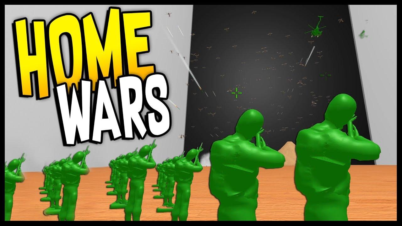 Home Wars Green Army Men Vs 1000 Bugs Army Men Battle