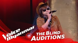 "ေမာင္ေမာင္ေအး (Mg Mg Aye): ""Everytime It Rain"" - Blind Audition - The Voice Myanmar 2018"