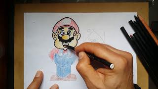 Super Mario - Angry Birds Çizimi
