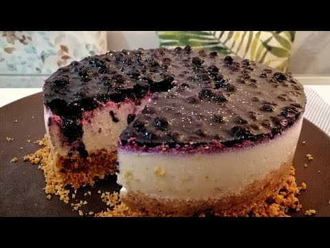NO BAKE Blueberry Cheesecake | KETO LOW CARB CHEESECAKE