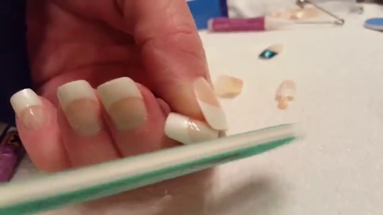 How to apply fake finger nails. - YouTube