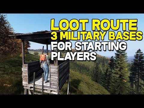 DAYZ 1.0 - Epic Loot Route! Tips For Beginners! (3 Military Bases) #1
