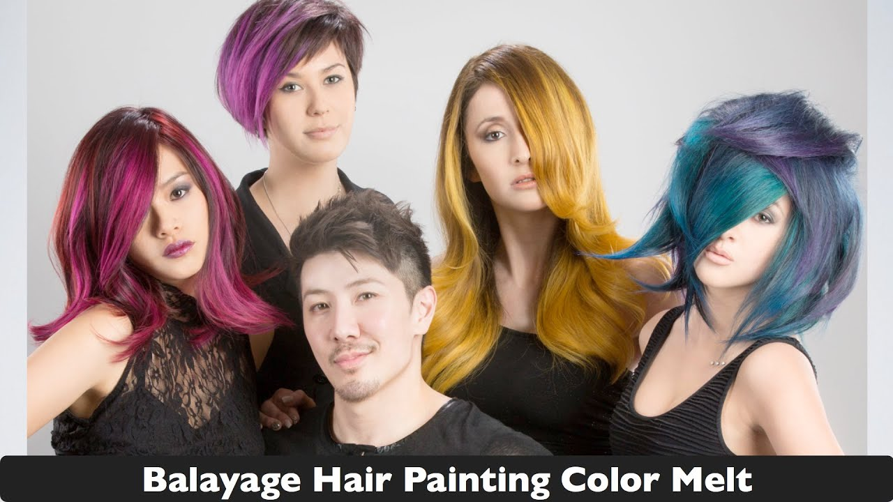 Balayage Hair Painting Transition Color Melt Youtube