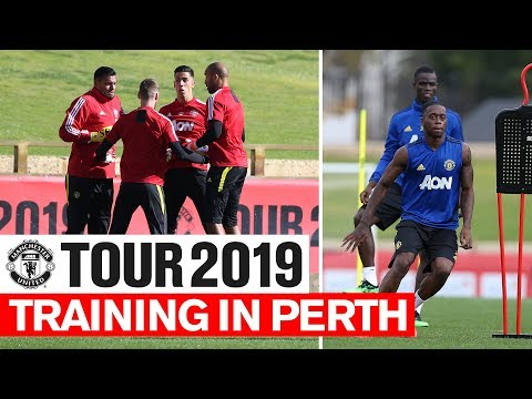 Manchester United | Tour 2019 | Training In Perth | Wan-Bissaka, Pogba, De Gea, Martial
