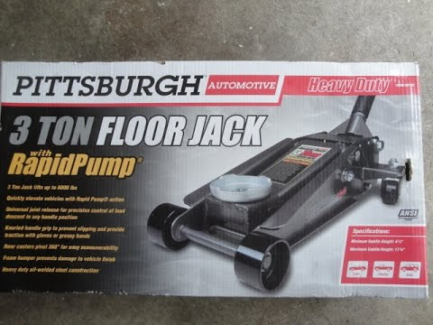 Unboxing The Harbor Freight 3 Ton Floor Jack Model 62116 Youtube