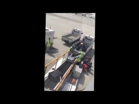 The way Qatar Aviation Staff treats our luggage. So irresponsible.