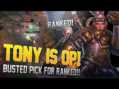 TONY IS BROKEN!! Vainglory [5v5] Ranked - Tony |WP| Top Lane Gameplay