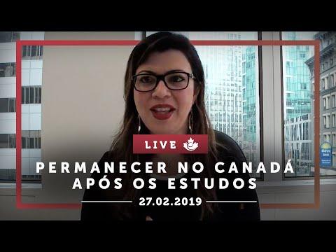 LIVE - PERMANECER NO CANADÁ APÓS ESTUDOS (PGWP) E TROCA DE STATUS