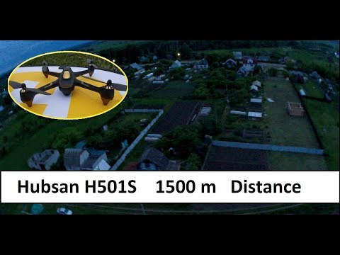 Hubsan H501S. 1500 meters distance midnight fly
