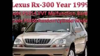 Lexus Rx 300 Code P1354,Rx-300 Code P0300,Code P0302,Code P0304,P0306(, 2016-07-19T09:28:36.000Z)
