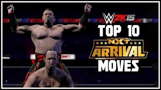 """WWE 2K15 Top 10 NEW """"NXT ArRIVAL DLC"""" Moves! [WWE 2K15 Countdown]"""