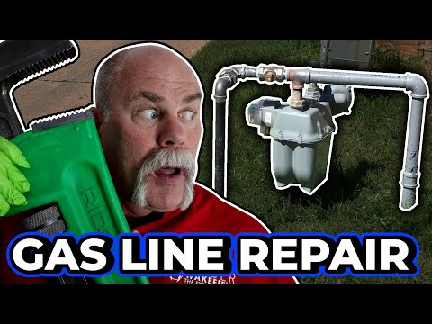 Repairing a Damaged Gas Line – Real Plumbing Jobs