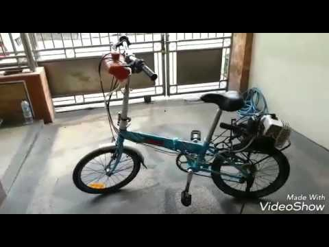 Sepeda Menggunakan Mesin Potong Rumput Youtube