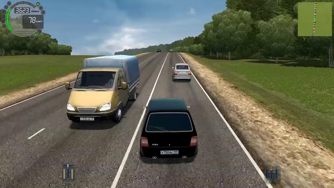 City Car Driving • Лада Ока Додж • Logitech G27 (Gameplay)