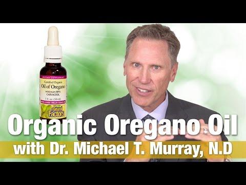 Natural Factors Organic Oregano Oil Liquid with Dr.  Michael T.  Murray