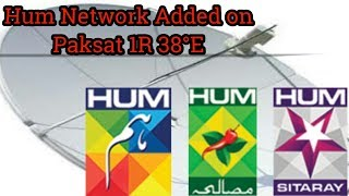 Hum Network add on Paksat 1R 38.E° free to air