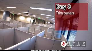 Office Furniture Installation (3 Day Time Lapse)