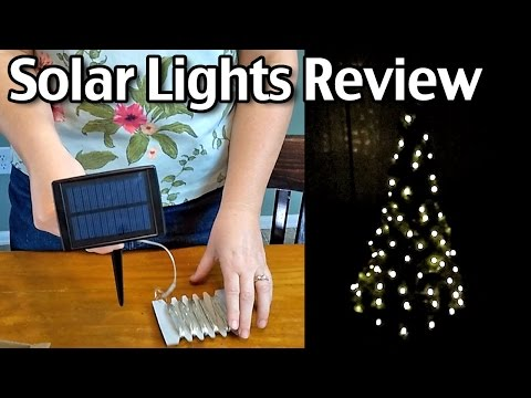 Solar Lights Review - Syntus Solar Christmas, Garden And Party Lights!