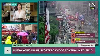 Accidente en Nueva York: Un muerto tras chocar un helicóptero contra un edificio en Manhattan