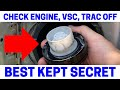 (Part 2) How To Fix Your Check Engine, VSC, Trac Off Warning Lights On