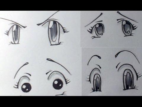 Как нарисовать эмоции у аниме.