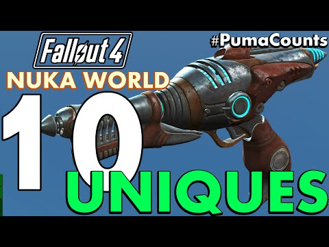 Top 10 Best Unique Guns and Weapons from Fallout 4 Nuka World DLC #PumaCounts