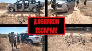 Abandonan AUTOS Y ARMAMENTO en el ejido San Felipe en Caborca