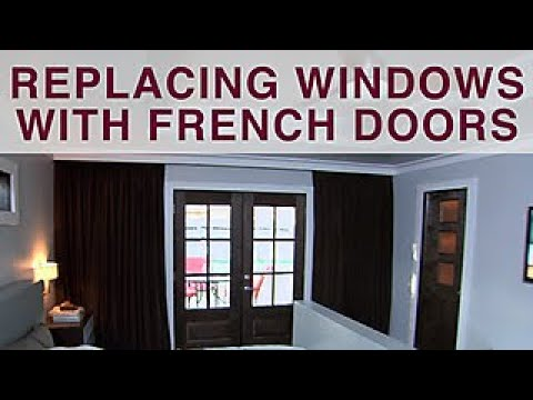 How to Replace Windows With French Doors - DIY Network