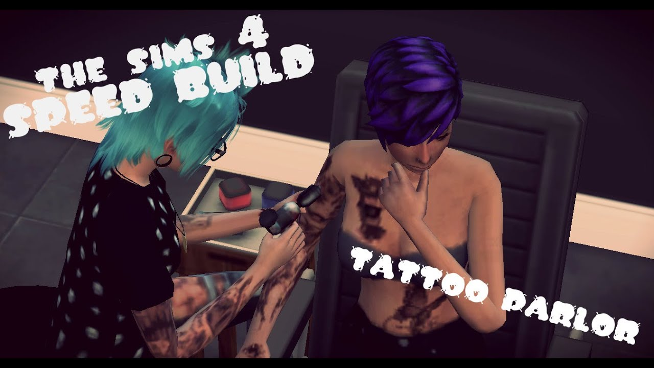 The Sims 4 Speed Build Tattoo Parlor YouTube