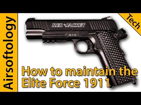 Keep your Elite Force 1911 Running | CO2 Gas Pistol Care Guide | Red Jacket | How-To Airsoftology