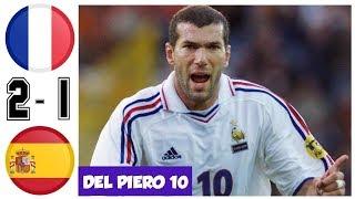 Франция Испания 2 1 Обзор Матча Четвертьфинал Чемпионата Европы 25 06 2000 HD