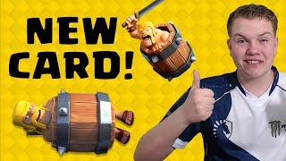 NEW CARD! 12 Win Barbarian Barrel Draft Challenge LIVE Gameplay! - Clash Royale