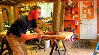 How to Make a Rustic Plank Table by Jim the Rustic Furniture Artist Part 22